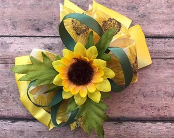 Sunflower Hair Bow