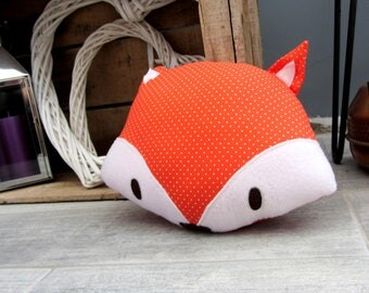 Decorative pillow orange Fox with dots * custom *.