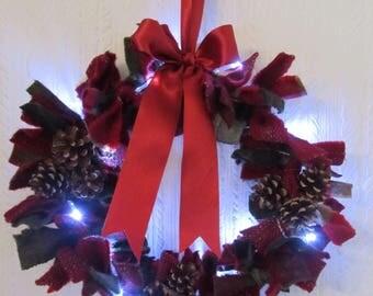 Christmas Raggy Wreath