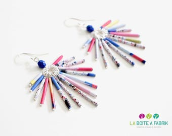"Earrings ear ""Flip-flop"" eco - design 2015 plume"