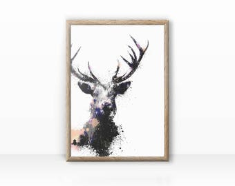 """Oooh """"Deer"""" illustration fine arts print"""