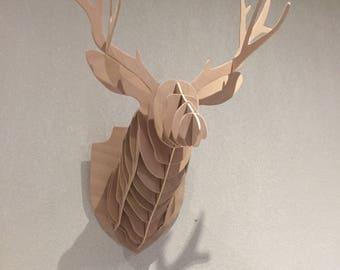 Deer head trophy size xl