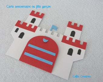 Boy Castle birthday card