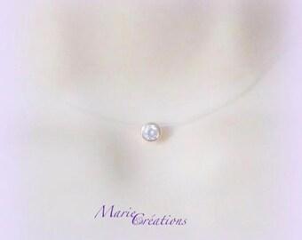 Necklace rhinestone clear cubic zirconia gold plated / Nylon yarn