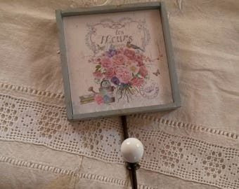 Shabby chic and romantic coat rack / hanger / towel or towel hook