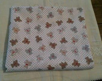 Cut of fabric 45 X 50 cm / kids fabric / patterns bears / teddy bear / fabric country spirit