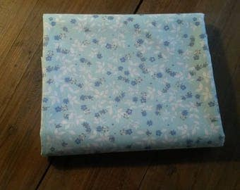 Liberty blue floral fabric / 49 X 49 cm