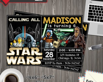 Star Wars Invitation, star wars Birthday, star wars Printable, star wars Editable, star wars PDF, star wars party birthday, star wars ,
