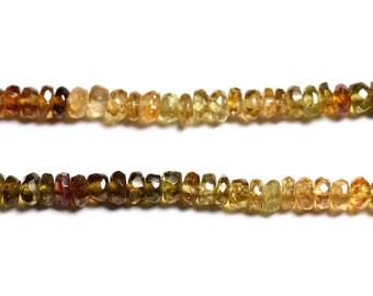 10pc - stone - Petro Tourmaline faceted Rondelle 3x2mm - 4558550090560 beads