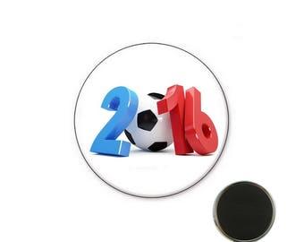 Euro 2016 magnet - Magnet 25 mm