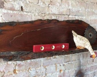 Rustic Wood Mesquite Shelf—Western Decor