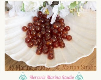 carnelian natural 4mm - semi precious beads 10 beads