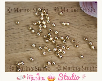 Gold plated 18 k 3mm beads