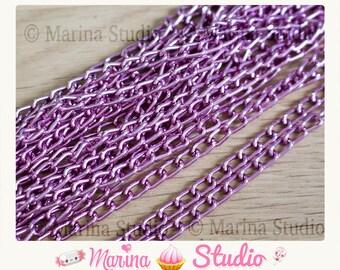 light pink mesh horse 6 aluminum chain 10 m x 3, 5mm n28043