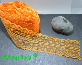 Lace / trim 45 mm wide color Orange-sold by the yard
