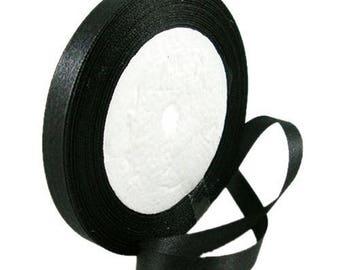 17 meters of black 10 mm Satin Ribbon