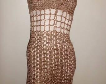sexy crochet t-36 vintage dress