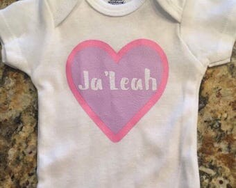 Heart onesie personalized