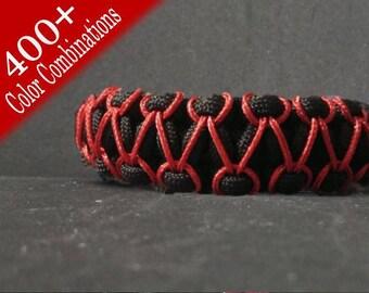 Herringbone Stitched Paracord Bracelet / Herringbone paracord / Paracord bracelet / stitching