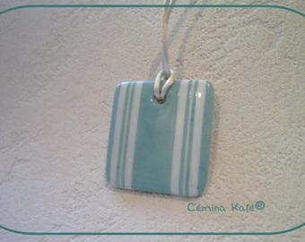 turquoise label, personalized porcelain