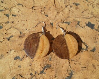 Earrings in acacia African boaca7