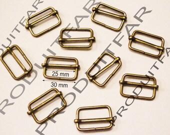 10 Thai Bronze buckle adjustment slide handle for bag 30 mm