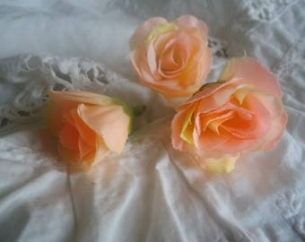 Set of 3 fabric roses, for your creations