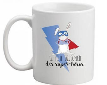 "INCASSABLE MUG ""breakfast of the Super Hero"""