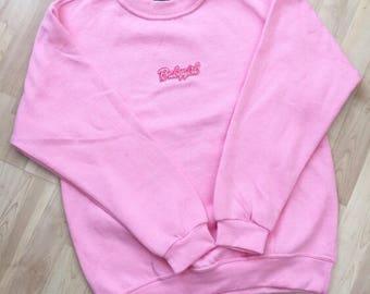 Pink 'Babygirl' Oversized Jumper