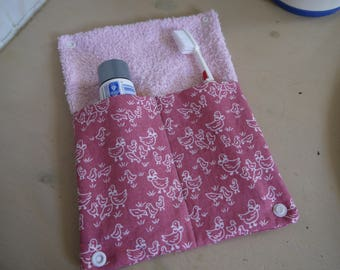 Holster toothbrush toothpaste, travel pouch