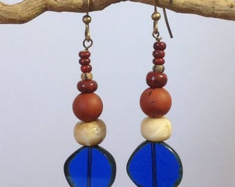 Long Ear Stud Masango Mediterranean. Long earrings Mediterranean Masango