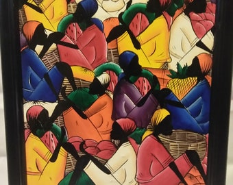 Haitian painting (NENEL) authentic reference to the pics
