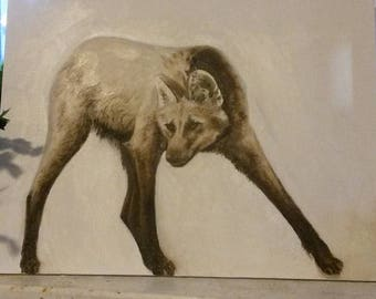 Manned Wolf Painting