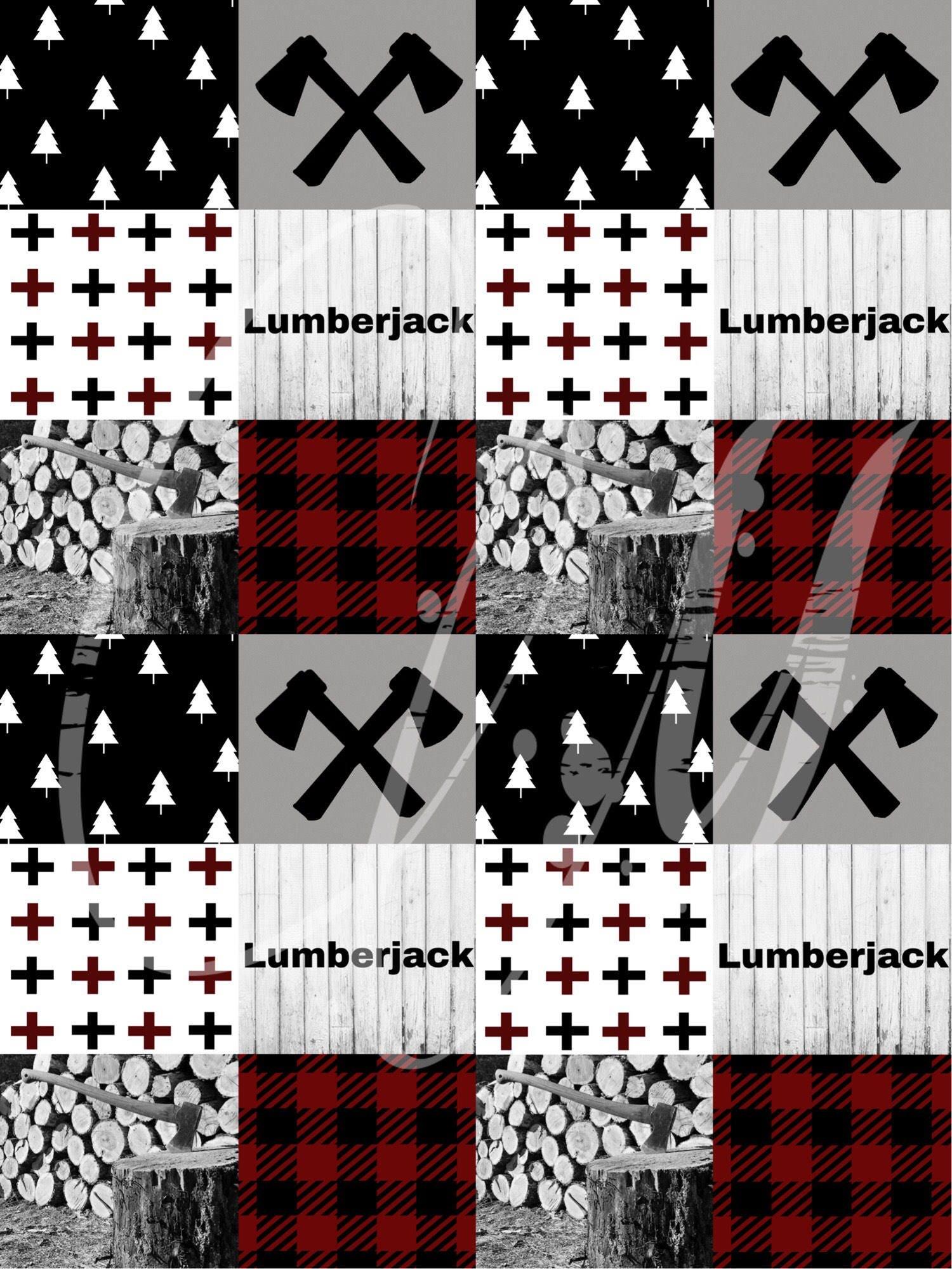 Woodland Fabric Lumberjack Fabric Wholecloth Fabric