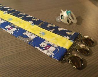 Pacifier Clips ~ Universal Fit ~ Cats and Dogs Collection (aka: Paci Clip, Binky Clip, Pacifier Keeper)