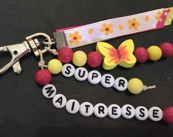 Key ring personalized with a message, name...