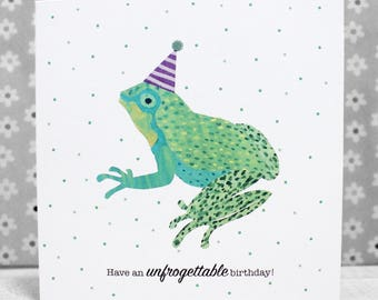 The Frog Card - Have an UNFROGETTABLE birthday!