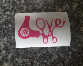 Hairstylist Decal/Love Hairstylist Decal/Hairdresser Decal/Car Decal/Mirror Decal/Yeti Decal/Laptop Decal/Ipad decal