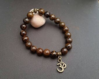 Bronzite Bracelet - 8 mm beads