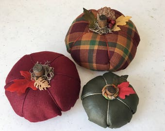 Autumn Fabric Pumpkin Set