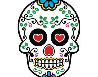 Mexican sugar skull, Dia de los Muertos
