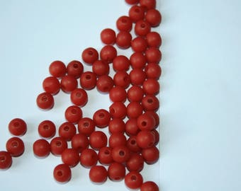 Beads plastic red 14 g 5 mm