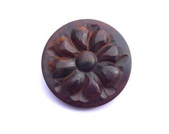 Wood look button shank 35 mm