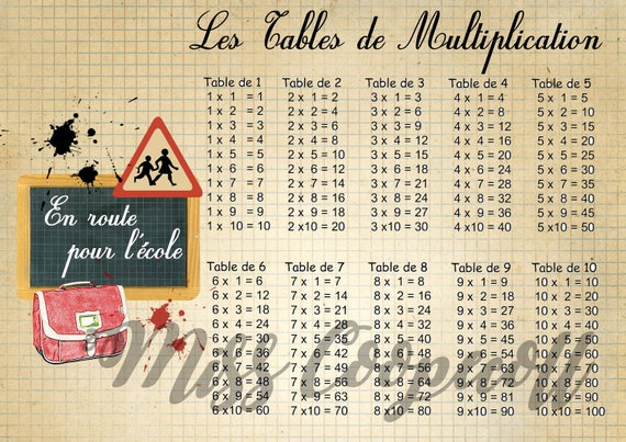 Table de multiplication imprimer format a4 c 39 est la for La table de multiplication de 7