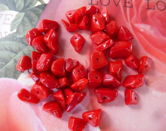 chips beads Jasper stones red red stone from 4 to 12 mm 10 g bag