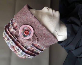 Hat purple Plaid