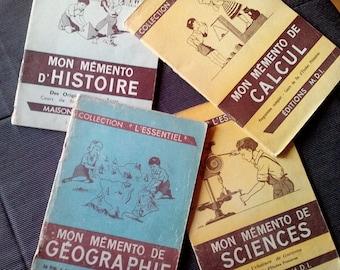 """4 notebooks """"Essentials"""" school - 1969"""