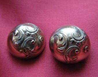 2 retro brass buttons * 19 mm *.