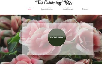 Lipsense Wix Website Floral Website Cute Custom Website Design