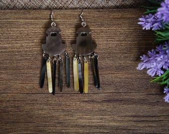 Buffalo Horn Earrings Horn Earrings Horn Jewelry Horn AccessoriesTA 26011